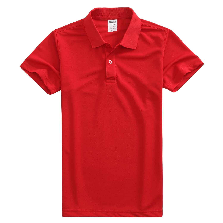 速干翻领亮红色t恤衫