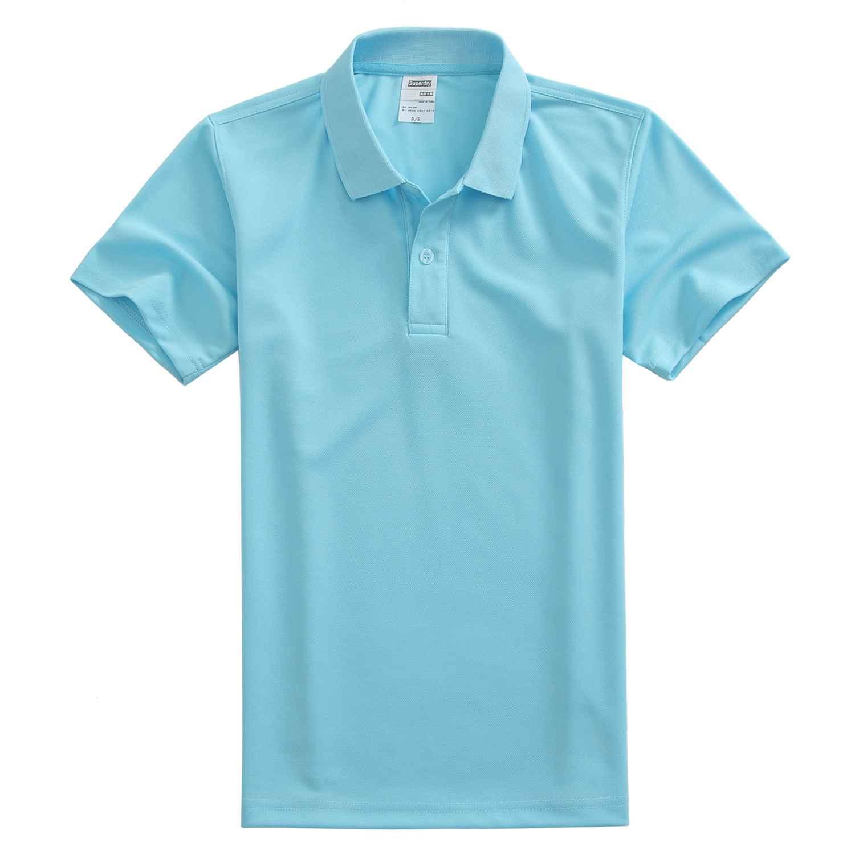 速干翻领浅蓝色t恤衫