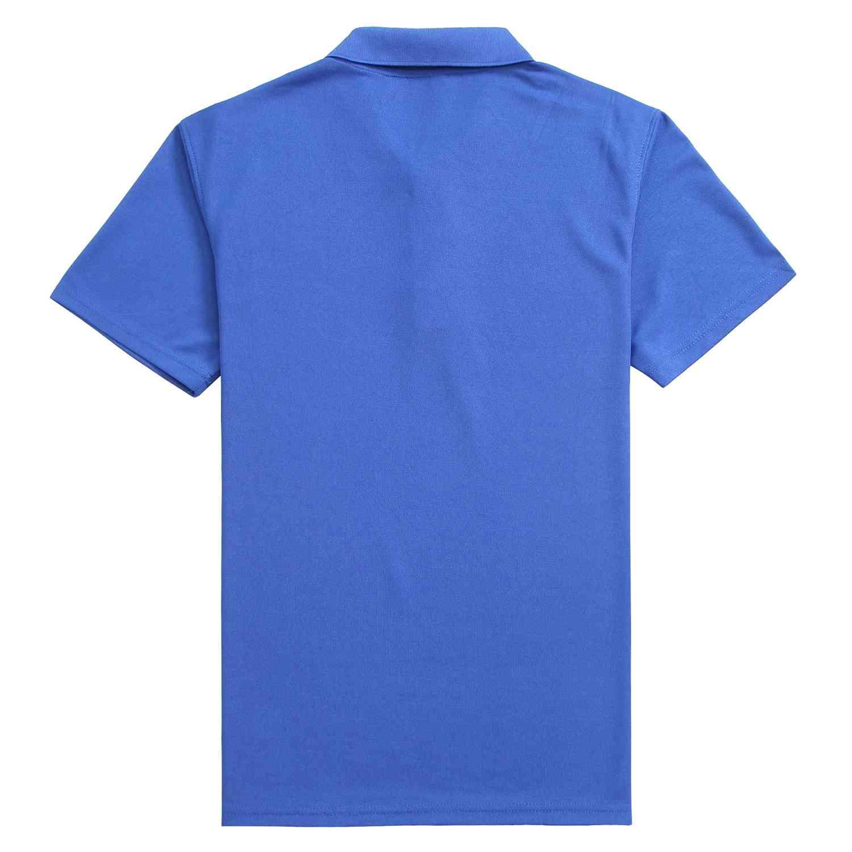 吸湿排汗宝蓝色T恤衫 企业团购批发更优惠