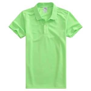 速干面料T-01 户外运动系列1510#翻领荧光绿色t恤衫