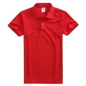 速干面料T-01 户外运动系列1510#翻领亮红色t恤衫