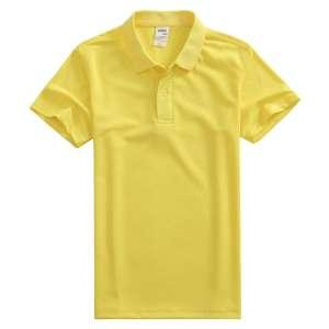 速干面料T-01 户外运动系列1510#翻领简约纯色荧光黄t恤衫