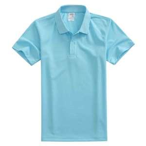 速干面料T-01 户外运动系列1510#翻领浅蓝色t恤衫
