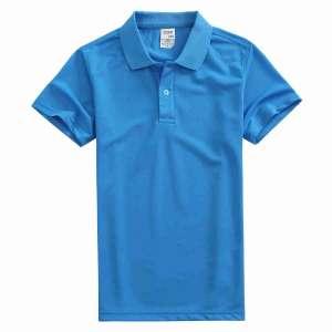 速干面料T-01 户外运动系列1510#翻领宝蓝色t恤衫
