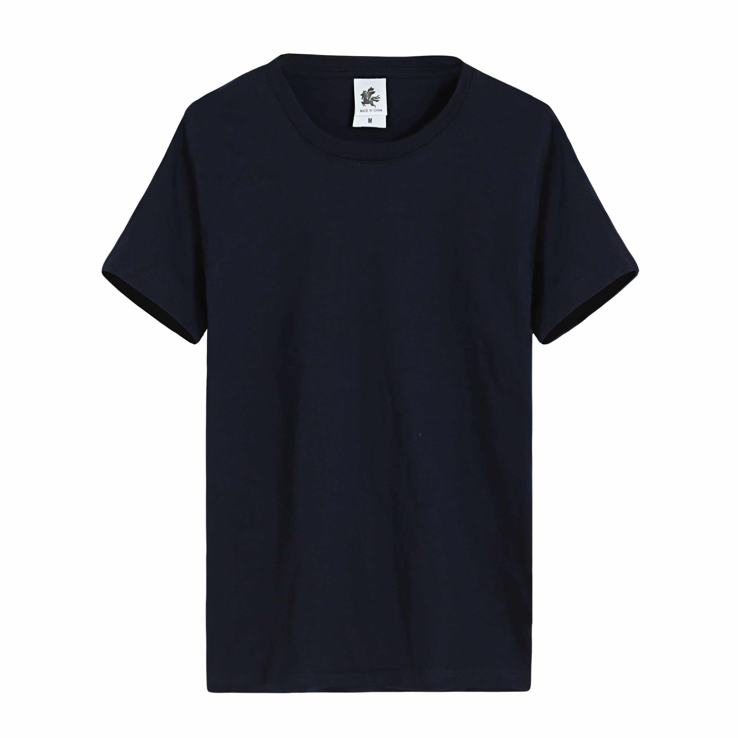 年会活动圆领高档长袖套头T恤定制同学聚会工作服定做T-19# 黑色男款