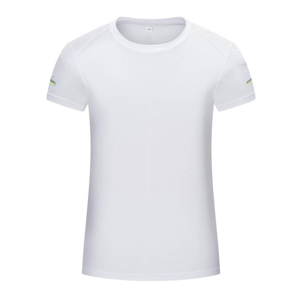 女士运动系列-简约时尚圆领T恤(白色)
