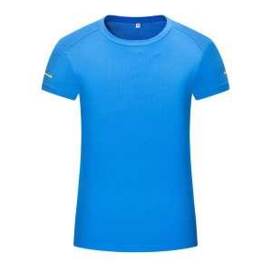女士运动系列-圆领简约时尚T恤(蓝色)