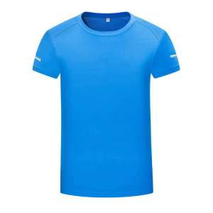 男士运动系列-简约时尚圆领T恤(湖蓝色)