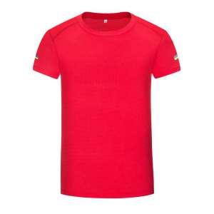 男士运动系列-简约时尚圆领T恤(红色)