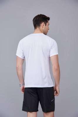 修身运动短袖 舒适透气跑步训练速干T恤-白色