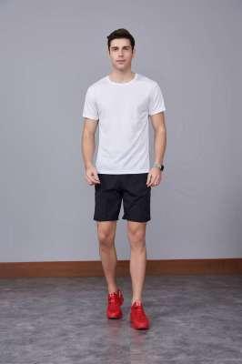 速干T恤 轻薄透气男女情侣款圆领短袖白色速干T恤