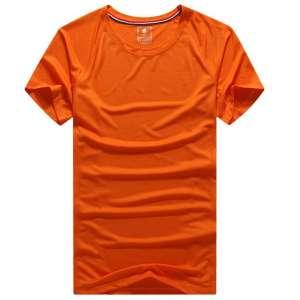 修身运动短袖 舒适透气跑步训练速干T恤平铺效果展示