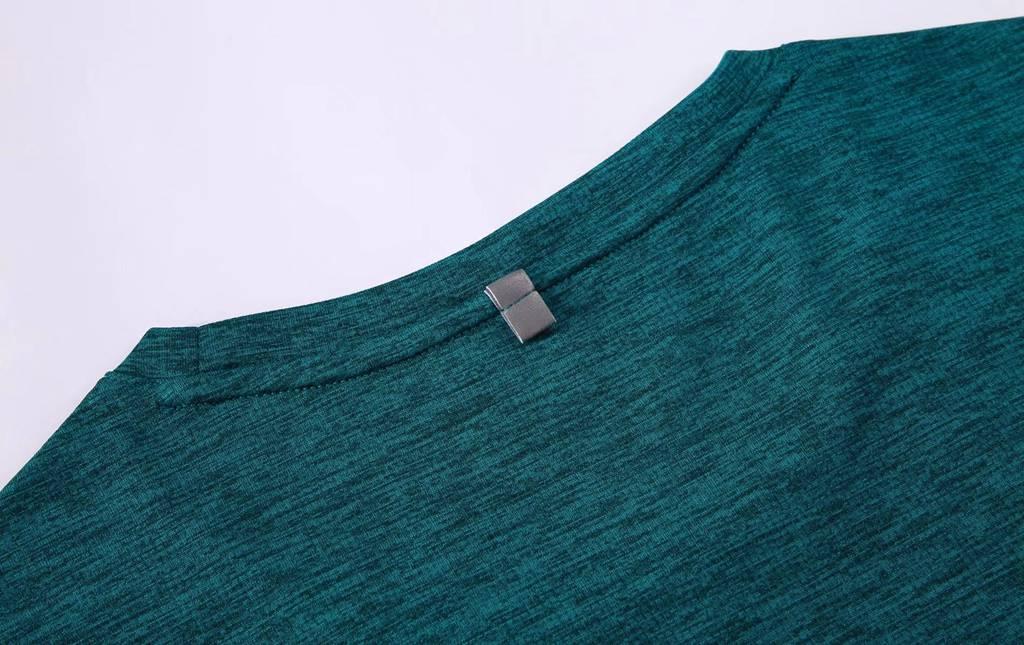 短袖文化衫 夏季圆领吸汗速干透气文化衫运动T恤跑步健身 衣细节