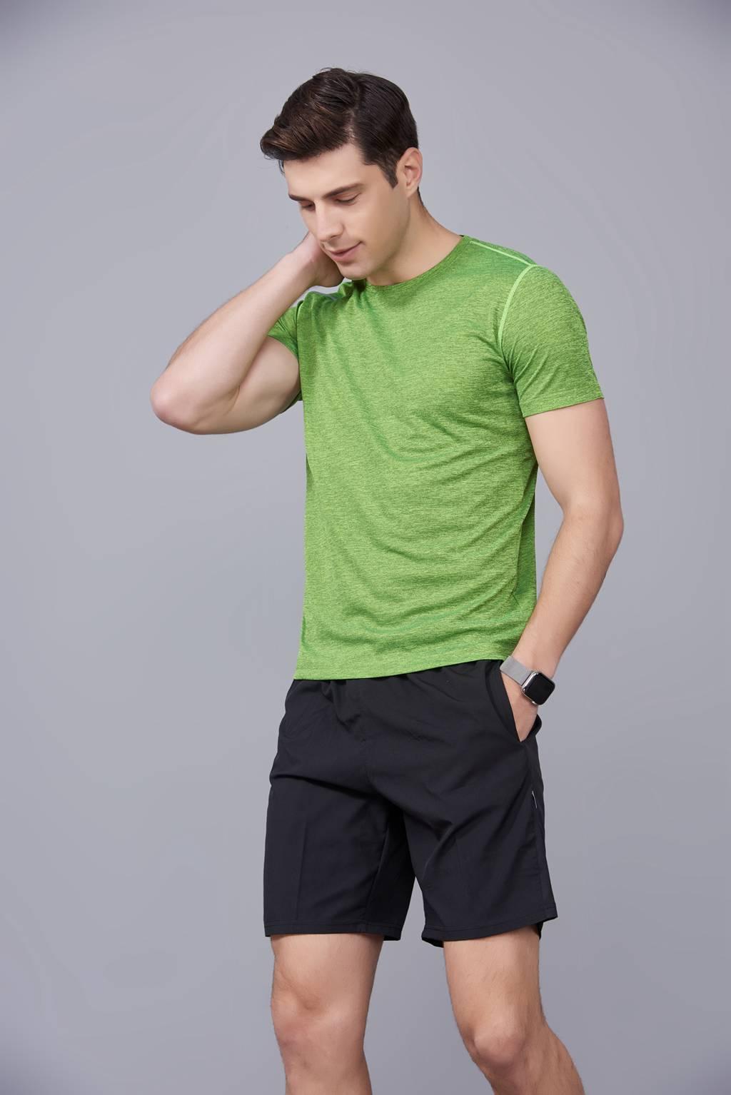 文化衫定制  男女情侣短袖文化衫定制T恤  绿色