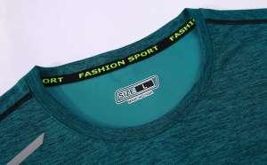 短袖文化衫 夏季圆领吸汗速干透气文化衫运动T恤跑步健身衣细节