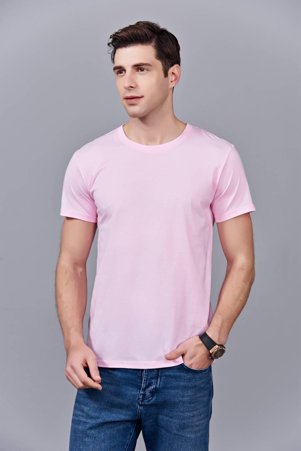 洋气百搭亲子装 半袖显瘦 速干圆领文化衫 春夏新品  粉色