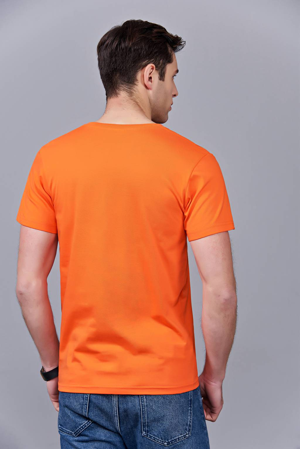 洋气百搭亲子装 半袖显瘦 速干圆领文化衫 春夏新品 橘色