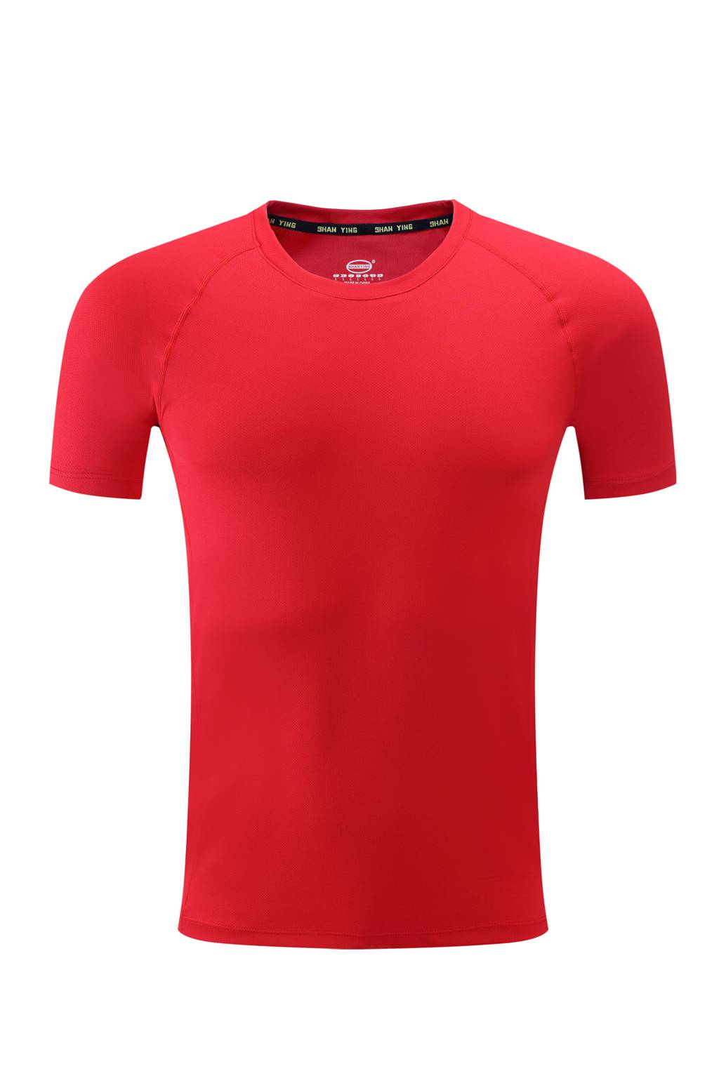 高档速干T恤  男女情侣衫  红色3D图