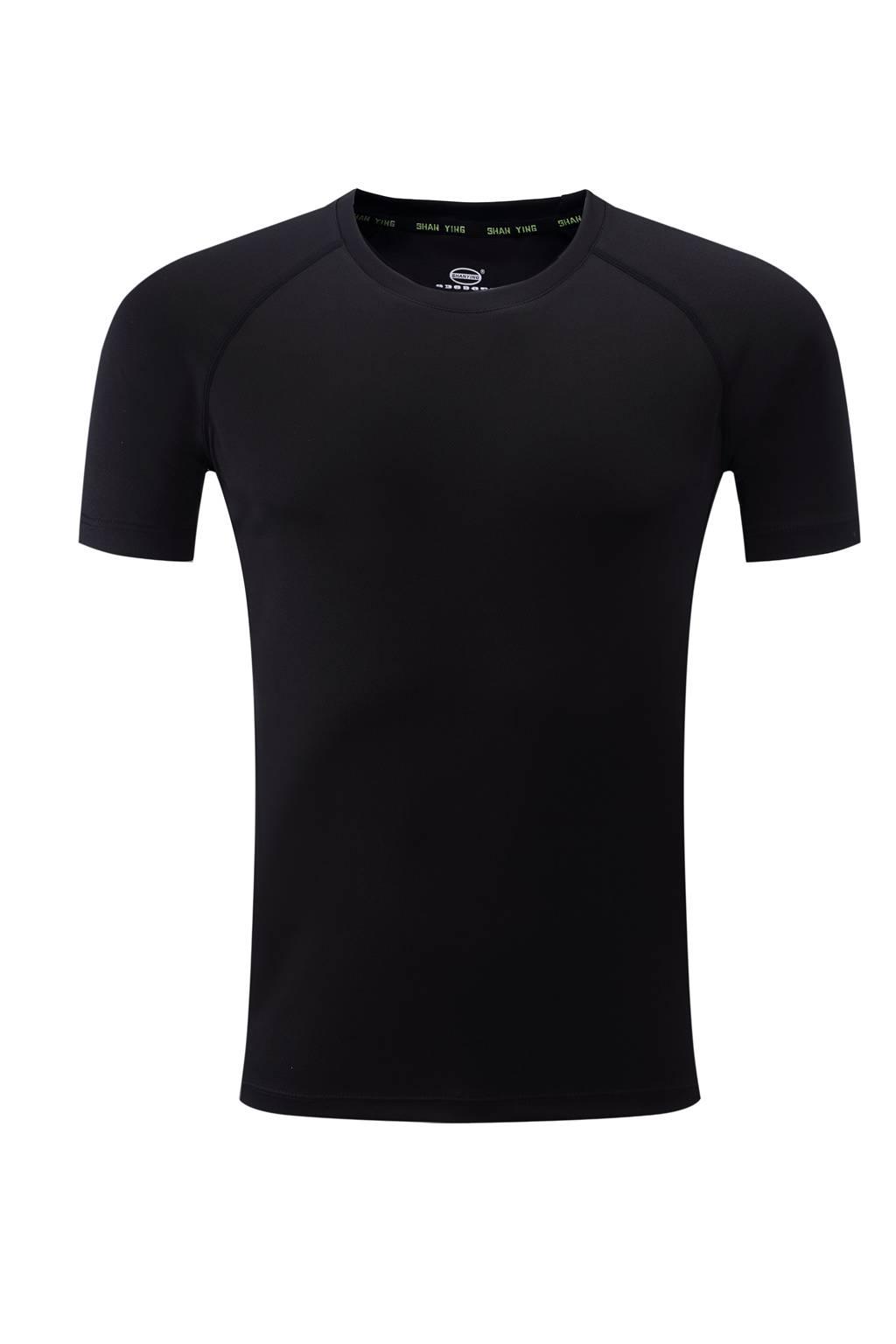 高档速干T恤  男女情侣衫  黑色3D图
