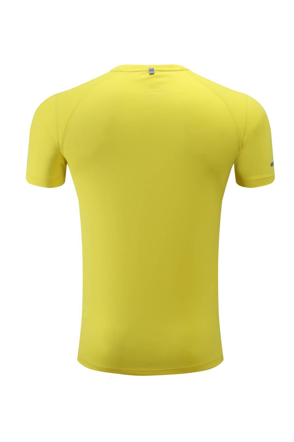 高档速干T恤 男女情侣衫 黄色3D图