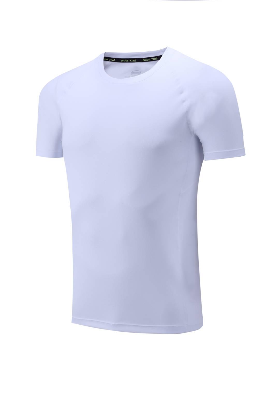 高档速干T恤 男女情侣衫 白色3D图