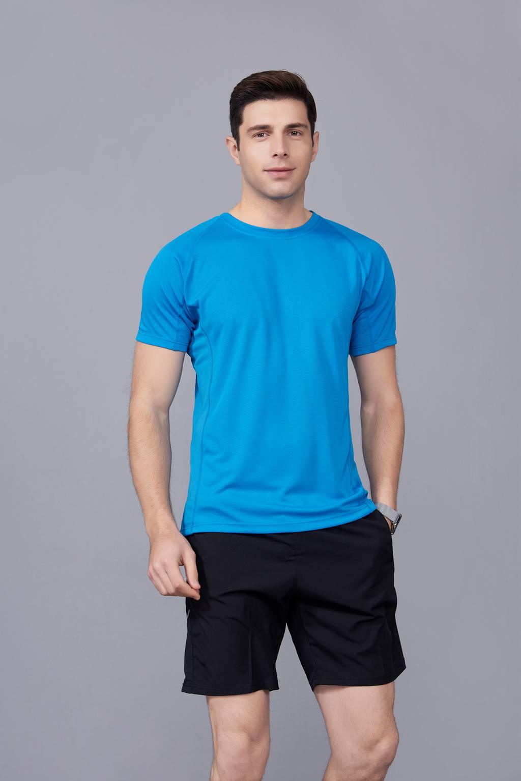 纯色T恤  简约大方经典时尚  湖蓝色