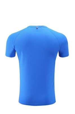 高档速干T恤  男女情侣衫  蓝色3D图