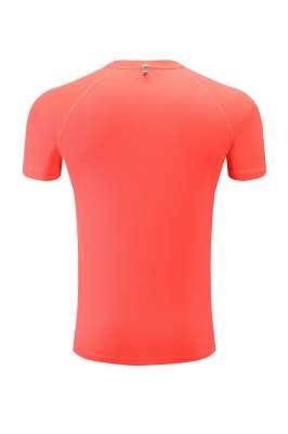 高档速干T恤 男女情侣衫 玫红色3D图