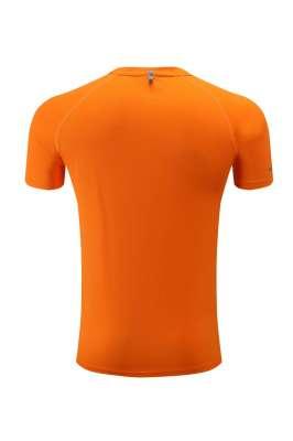 高档速干T恤 男女情侣衫 橘色3D图