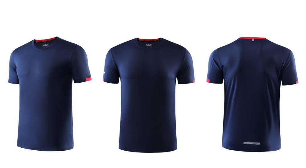 春夏新品 圆领短袖T恤 时尚运动文化衫 黑色 3D效果图
