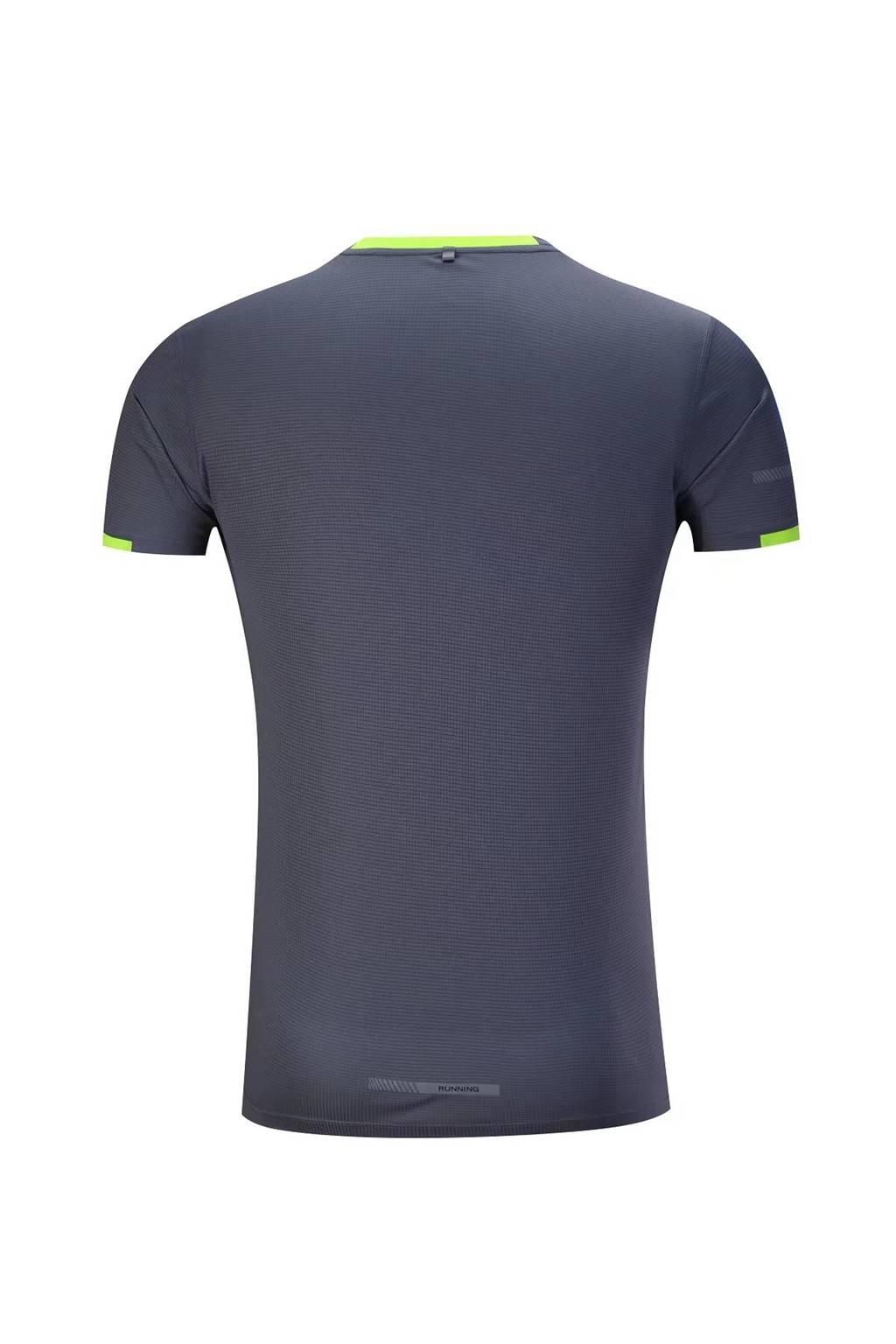 春夏新品 圆领短袖T恤 时尚运动文化衫 深灰色 3D效果图