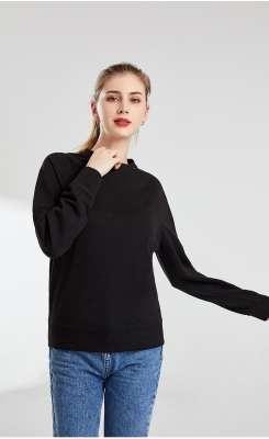 卫衣定制 时尚卫衣女士春季 黑色舒适