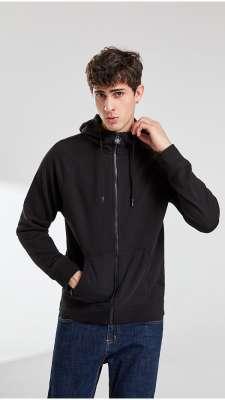卫衣定制  时尚卫衣男士春季 黑色舒适