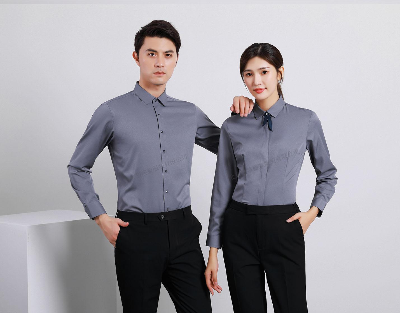 衬衫定制 时尚衬衫男女士春季 深灰色时尚衬衫