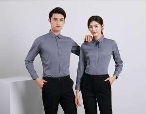 衬衫定制 时尚衬衫男女士春季 深灰色