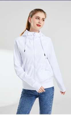卫衣定制 时尚卫衣女士春季 白色舒适