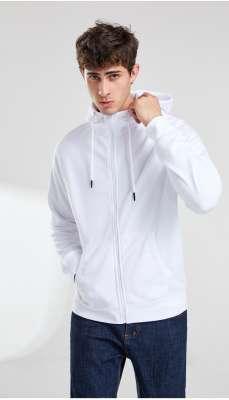卫衣定制 时尚卫衣男士春季 白色舒适