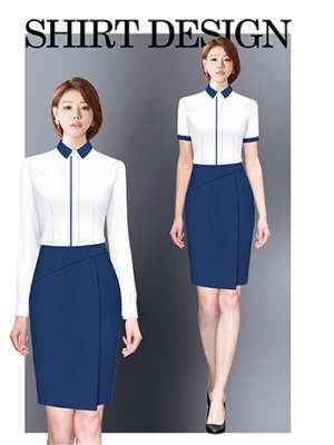 衬衫定制 时尚长袖衬衫女士春秋季 白