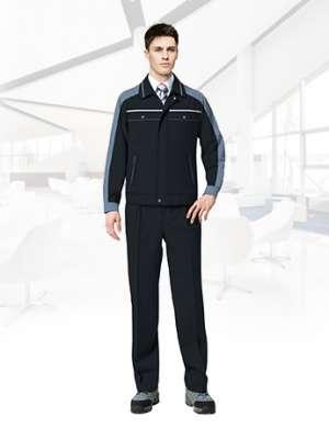 秋冬春季长袖工作服套装男士劳保服