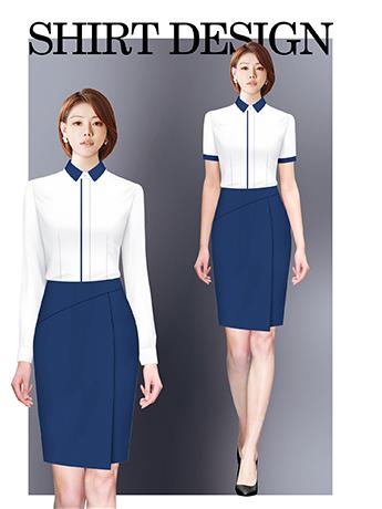 衬衫定制 时尚长袖衬衫女士春秋季 白色时尚衬衫