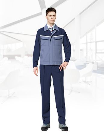 长袖工作服套装男耐磨春秋厂服 暗蓝色工作服