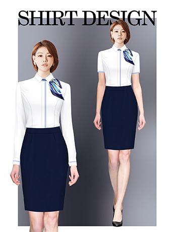 衬衫定制 时尚衬衫女士春秋季 白色长袖衬衫
