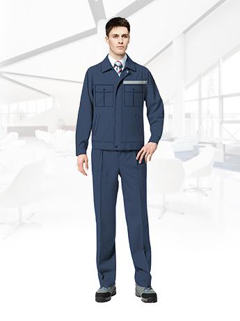反光条工作服套装男春秋长袖