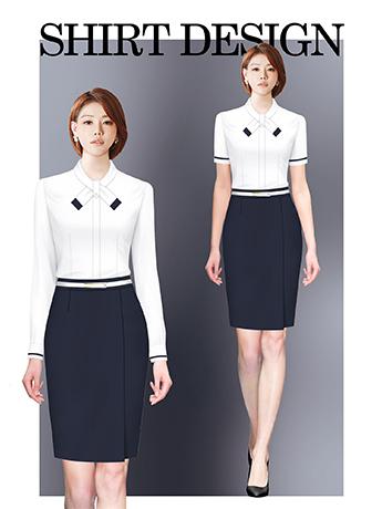 衬衫定制 时尚衬衫女士春秋季 优雅白色长袖衬衫