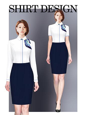 衬衫定制 时尚长袖衬衫女士春季 白色时尚衬衫