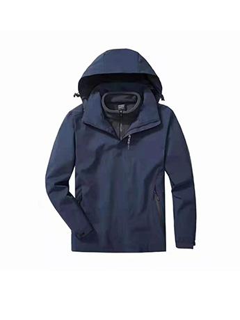 冲锋衣定制 高端冲锋衣男士秋冬季 灰蓝色高端冲锋衣
