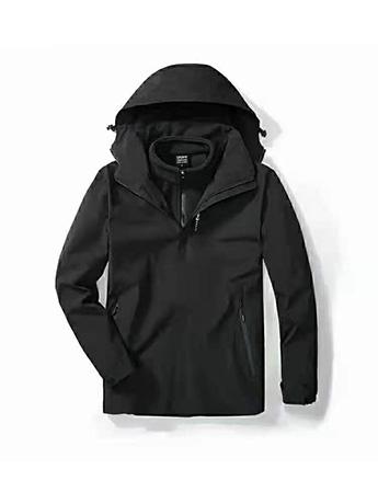 冲锋衣定制 高端冲锋衣男士秋冬季 经典黑色高端冲锋衣