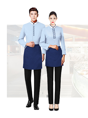 双排扣酒店餐饮工服男女春秋季工服套装