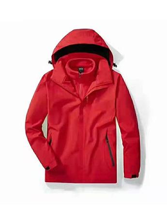 冲锋衣定制 高端冲锋衣男士秋冬季 中国红色冲锋衣