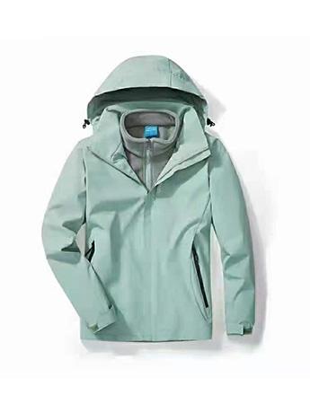 冲锋衣定制 高端冲锋衣男士秋冬季 抹茶绿色高端冲锋衣